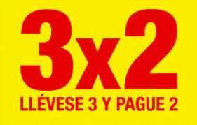 3x2 en productos de cosmetica