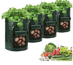4 bolsas de plantación transpirables de 10 galones,