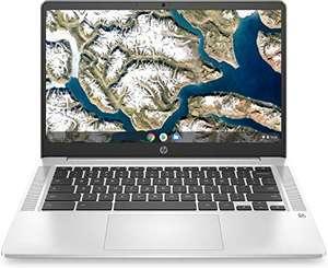 "HP Chromebook Ordenador Portátil 14"" FullHD, 8GB RAM, 128GB SSD. Sistema operativo Chrome. Teclado Qwerty español. Color plata."