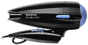 Taurus 900108000 Studio 2200, Secador de pelo, 2200 W, mango plegable, 2 velocidades y 3 temperaturas, color negro