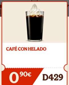 Café con helado Burger King BK