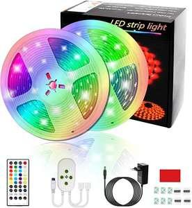 10M Tiras LED Musical 5050 RGB Tiras de Luces LED Iluminación con 300 LED 16 Colores,Control Remoto 44 Claves y Música para TV