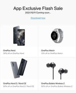 OnePlustober Fest - OnePlus [Nord 2 y CE 50%, Wireless Z Black 50%, OnePlus Nord 30%, Watch 13$]