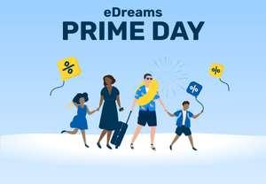 Vuelven los Prime Days de eDreams 60% descuento Vuelos + 50% Alojamiento +40€ Coches + Descuentos extra+ Cancela Gratis +10€ descuento extra
