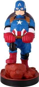 Capitán América, soporte de sujeción y carga para mando de consola y/o smartphone de tu personaje favorito con licencia oficial de Marvel