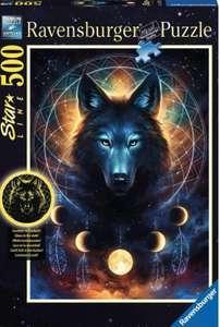 Puzzle Lobo, 500 Piezas. Brilla en la oscuridad