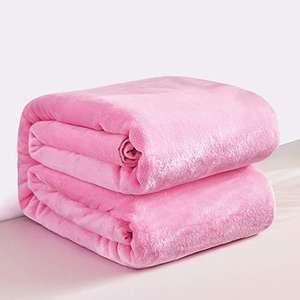 RATEL Mantas para Cama Rosa 200 × 230 cm