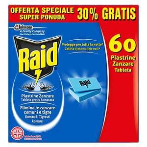 60 pastillas repelentes de mosquitos para aparato eléctrico Raid