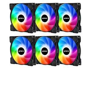 6 Ventiladores 120 mm RGB LED con Mando a Distancia