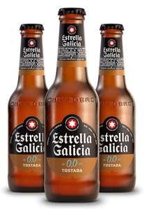 Estrella Galicia 0,0 Tostada Cerveza - Pack de 24 botellines x 250 ml - Total: 6 L (ahorra 2,72€ al tramitar el pedido)