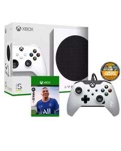 Xbox Series S + Mando Blanco con Cable Licenciado + FIFA 22