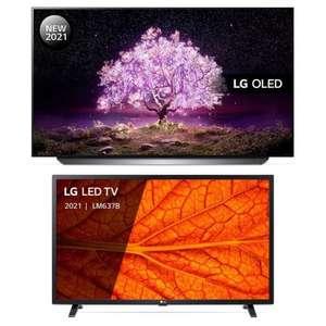 "LG Pack 55C14LB 55"" OLED UltraHD 4K HDR10 Pro + 32LM637BPLA 32"" LED HD HDR10"