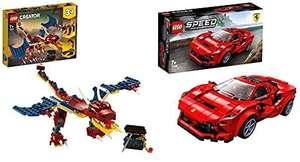 31102 Creator Dragón Llameante Set De Construcción 3En1 Dientes De Sable O Escorpión + 76895 Speed Champions Ferrari F8