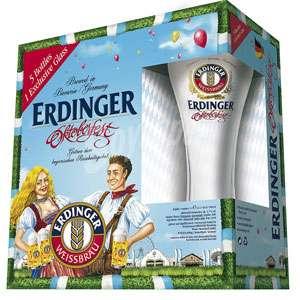 Pack de Cervezas Premium :: Erdinger 5 + Vaso, Corona, La Trappe Dubbel y Otros (AlCampo)
