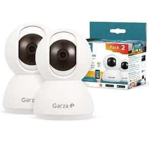 Garza ® Smarthome - Pack 2 Cámaras de Vigilancia Interior inteligente Wifi 360°