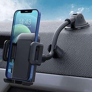 Soporte de coche para móvil universal --- Salpicadero y Parabrisas con Ventosa de Gel Fuerte y Fijador Antivibración