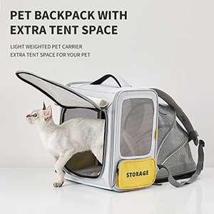 PETKIT Mochila transportin para Gatos y Perros pequeños. Expandible & Plegable (OFERTA FLASH)