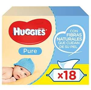 1008 Toallitas de Huggies Pure (Toallitas para Bebé) - 14,27€ con compra recurrente.
