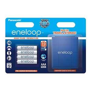 Panasonic Eneloop Pack 4 Pilas Recargables (AAA, con Estuche)