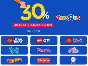 30 aniversario de Toysrus,30% en muchos marcas.