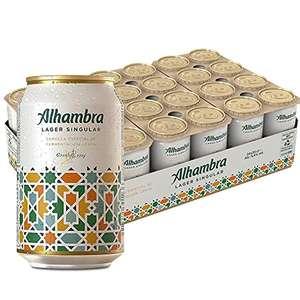 Alhambra Lager Singular Cerveza - Pack de 24 Latas x 33cl