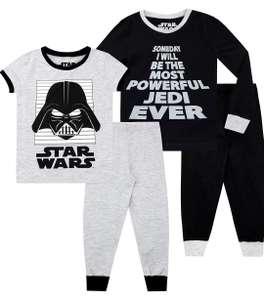 2 pijamas de Star Wars infantil de 4 a 6 y de 10 a 12 años.