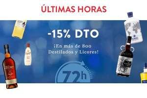 -15% en Destilados y licores (descuento automático)