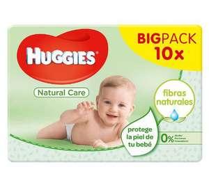 Toallitas para bebé Huggies Natural Care (10×56= 560 toallitas)