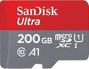 SanDisk Ultra de 200 GB + adaptador SD con rendimiento de la aplicación A1 de hasta 120 MB / s