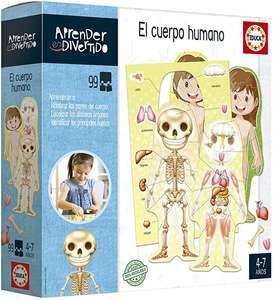 Educa - Aprendo Aprender es Divertido el Cuerpo Humano, tambien operaciones matematicas, Juego educativo para niños, a partir de 4 años