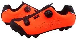 Zapatillas de Ciclismo MTB Luck Icaro rojas o naranjas con sistema BOA.