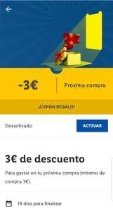 Cupón de 3€ en Lidl App