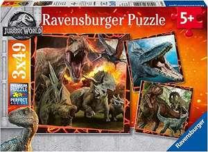 Ravensburger - Puzzle 3 x 49, Jurassic World