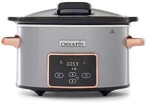 Crock-Pot CSC059X Olla de cocción lenta digital para preparar todo tipo de recetas, 3.5 litros, Plata/Cobre