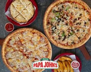 Pizzas medianas Papa Johns a 4,95€ Uber Eats (Solo Carbonara, 6 Quesos y Vegetariana)