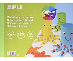 APLI - Bloc de cartulinas surtidas 32 x 24 cm 10 hojas