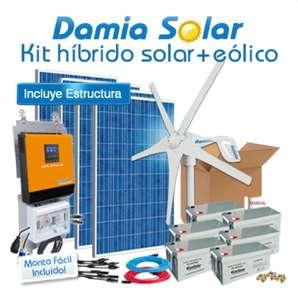 Kit Híbrido Solar + Eólico 3000W Uso Diario