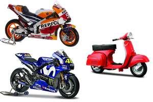 Moto Honda Marquez 10.99€ / Yamaha Valentino Rossi 9.81€ / Vespa 8.21€ (Escala 1: 18)