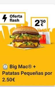 Big Mac + patatas a 2,50€