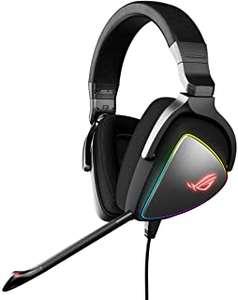 Asus ROG Delta - Auriculares gaming RGB con Hi-Res ESS Quad-DAC, efecto de iluminación circular RGB + conector USB-C para PC y consolas