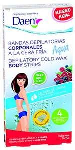 Daen Bandas depilatorias corporales de cera fría   Frutos Rojos