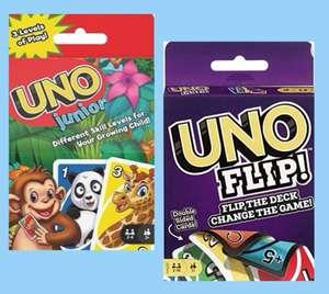 Mattel Games Juego de cartas UNO Junior con dibujos de Animales o UNO FLIP