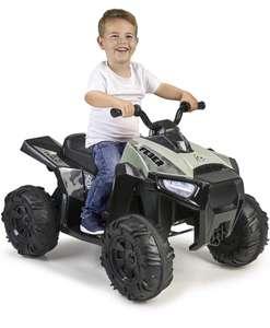 FEBER- Quad Boxer, Vehículo eléctrico a batería, 12 V, Verde