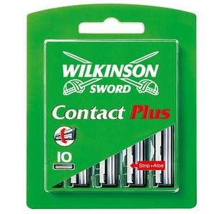 10 Cuchillas de Afeitar Wilkinson Contact Plus