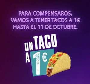 Tacos 1€ hasta 11/10 en Taco Bell