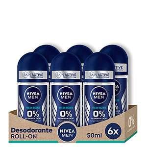 NIVEA MEN Roll on Pack de 6 unidades x 50 ml sin aluminio