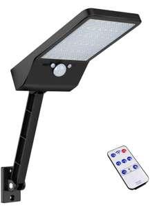 Luz solar exterior, 48 LEDs, IP65 impermeable con control remoto y sensor de movimiento