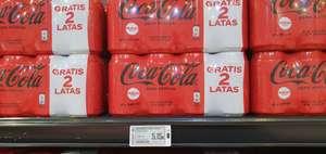 Coca-Cola zero 33cl paquete de 16 latas(unidad sale a 32 céntimos) en supermercados Coviran en Granada