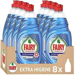 Fairy Ultra P Lavavajillas Líquido a Mano, 4L (8X 500 Ml), 8 Unidades (compra recurrente)