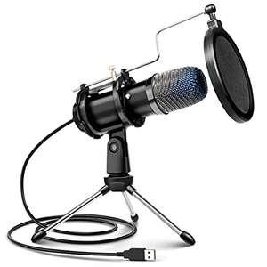 Micrófono de Condensador con Trípode para Grabación